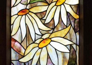 Daisies framed panel